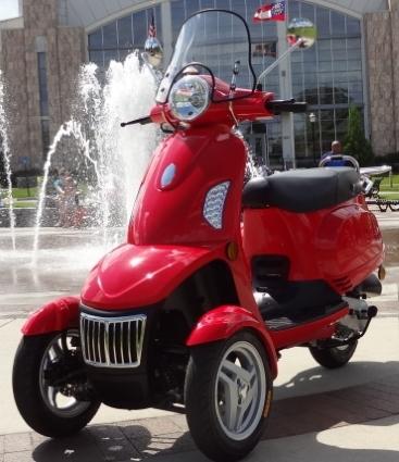 T Rider 49cc Three Wheel Trike Scooter Moped
