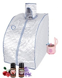 Brand New XL Silver Portable Steam Sauna Box