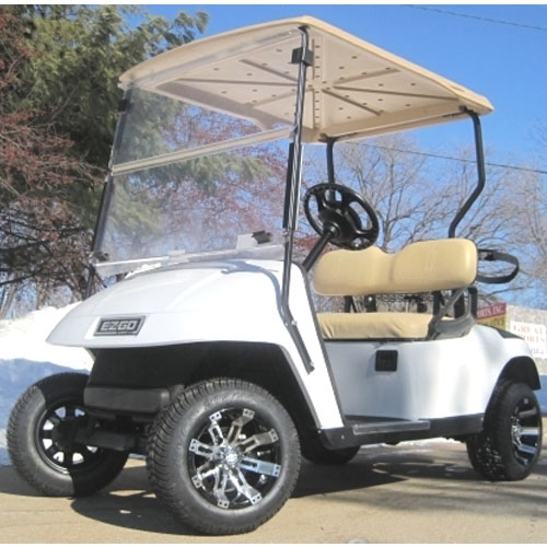 Pearl White Custom    Ezgo    TXT    36V    Electric    Golf       Cart