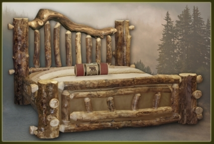Brand New Majestic Rustic Furniture Aspen Log Bed