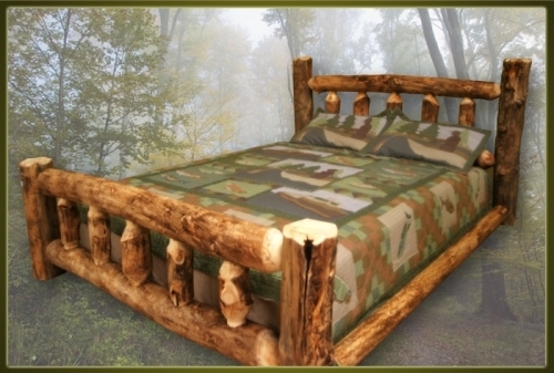 brand new rustic furniture log cabin bed