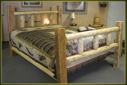 Brand New Rustic Furniture Timber Frame Log Bed