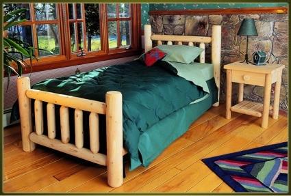 Brand New Goodtimber Rustic Furniture Cedar Log Bed