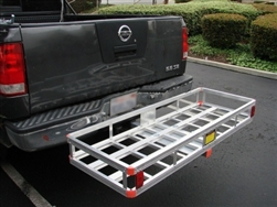 "60"" x22"" ALUMINUM CARGO CARRIER / RV HITCH MOUNT"