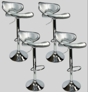 4 Swivel Silver Retro Leather Modern Adjustable Hydraulic Bar Stool Bar stool  sc 1 st  SaferWholesale : adjustable swivel stools - islam-shia.org