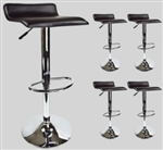 4 Black Swivel Seat Modern Bombo Chair Pub Chrome Barstools