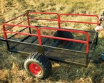 High Quality X2 Steel Mesh Utility Trailer