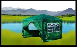 10x10 Green Easy Set Pop Up Party Tent Canopy Gazebo at Sears.com