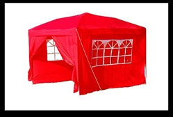 10x10 Red Easy Set Pop Up Party Tent Canopy Gazebo at Sears.com