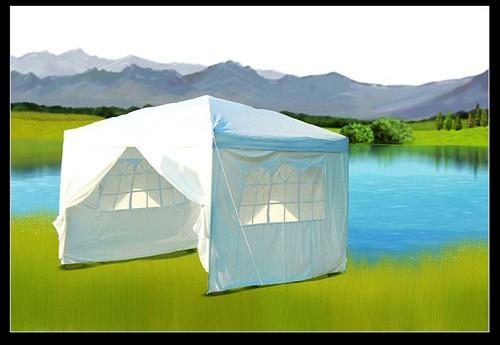 10x10 White Easy Set Pop Up Party Tent Canopy Gazebo