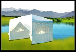 10x10 White Easy Set Pop Up Party Tent Canopy Gazebo at Sears.com