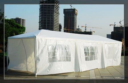 10 x 30 White Gazebo Party Tent Canopy & x 30 White Gazebo Party Tent Canopy
