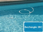 Complete 12'x24' Rectangle 2RC InGround Swimming Pool Kit with Polymer Supports
