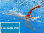 Complete 12'x24' Rectangle 2RC In Ground Swimming Pool Kit with Wood Supports