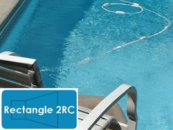 Complete 14'x28' Rectangle 2RC InGround Swimming Pool Kit with Polymer Supports