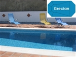 Complete 16'x32' Grecian In Ground Swimming Pool Kit with Wood Supports