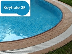 Complete 16x32 Keyhole 2R InGround Swimming Pool Kit with Polymer Supports