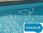 Complete 16x32 Keyhole 2R InGround Swimming Pool Kit with Steel Supports