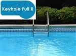 Complete 16x32 Keyhole Full R InGround Swimming Pool Kit with Polymer Supports