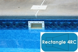 Complete 16'x32' Rectangle 4RC InGround Swimming Pool Kit with Steel Supports