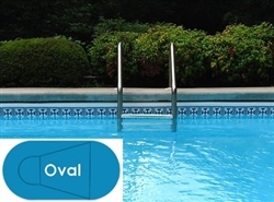 Complete 16'x33' Oval In Ground Swimming Pool Kit with Polymer Supports
