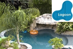 Complete 16x34x25 Lagoon In Ground Swimming Pool Kit with Steel Supports