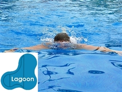 Complete 16x34x25 Lagoon In Ground Swimming Pool Kit with Wood Supports