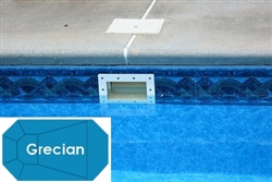 Complete 16'x36' Grecian In Ground Swimming Pool Kit with Steel Supports