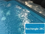 Complete 16'x36' Rectangle 2RC InGround Swimming Pool Kit with Polymer Supports