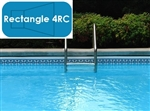 Complete 16'x36' Rectangle 4RC InGround Swimming Pool Kit with Steel Supports