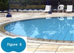 Complete 16'x37' Figure 8 InGround Swimming Pool Kit with Polymer Supports