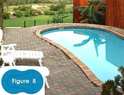 Complete 16'x37' Figure 8 In Ground Swimming Pool Kit with Steel Supports