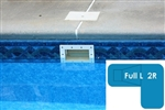Complete 16x38x24 Full L 2R InGround Swimming Pool Kit with Polymer Supports