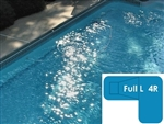 Complete 16x38x24 Full L 4R In Ground Swimming Pool Kit with Polymer Supports