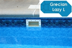 Complete 16'x42' Grecian Lazy L  InGround Swimming Pool Kit with Steel Supports