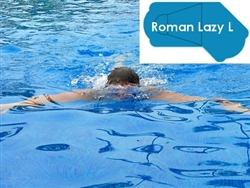 Complete 16'x42' Roman Lazy L  In Ground Swimming Pool Kit with Wood Supports