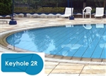 Complete 18x36 Keyhole 2R In Ground Swimming Pool Kit with Polymer Supports