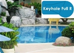 Complete 18x36 Keyhole Full R In Ground Swimming Pool Kit with Polymer Supports