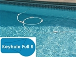 Complete 18x36 Keyhole Full R In Ground Swimming Pool Kit with Steel Supports