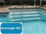 Complete 18'x36' Rectangle 4RC InGround Swimming Pool Kit with Polymer Supports