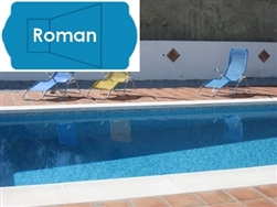 Complete 18'x38' Roman In Ground Swimming Pool Kit with Polymer Supports
