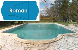 Complete 18'x38' Roman In Ground Swimming Pool Kit with Steel Supports