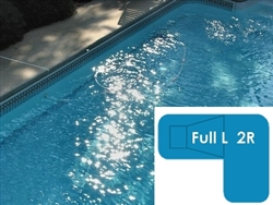 Complete 18x38x26 Full L 2R InGround Swimming Pool Kit with Wood Supports