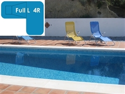Complete 18x38x26 Full L 4R InGround Swimming Pool Kit with Polymer Supports