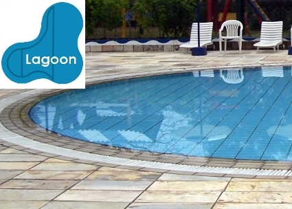 complete 18x38x29 lagoon inground swimming pool kit with polymer supports