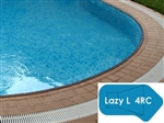 Complete 18'x44' Lazy L 4RC InGround Swimming Pool Kit with Steel Supports