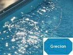 Complete 19'x37' Grecian InGround Swimming Pool Kit with Wood Supports