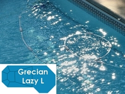 Complete 19'x46' Grecian Lazy L  InGround Swimming Pool Kit with Polymer Supports
