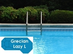 Complete 19'x46' Grecian Lazy L  InGround Swimming Pool Kit with Wood Supports