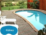 Complete 20'x38' Kidney In Ground Swimming Pool Kit with Steel Supports